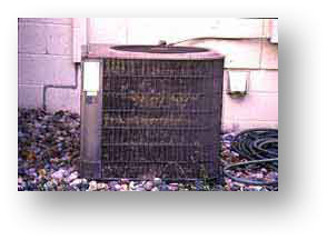 Image of a home HVAC unit that would use a specialty product to be cleaned